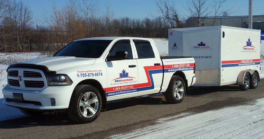 Pro Fleet Care Mobile Rust Control and Rust Proofing Truck and Trailer