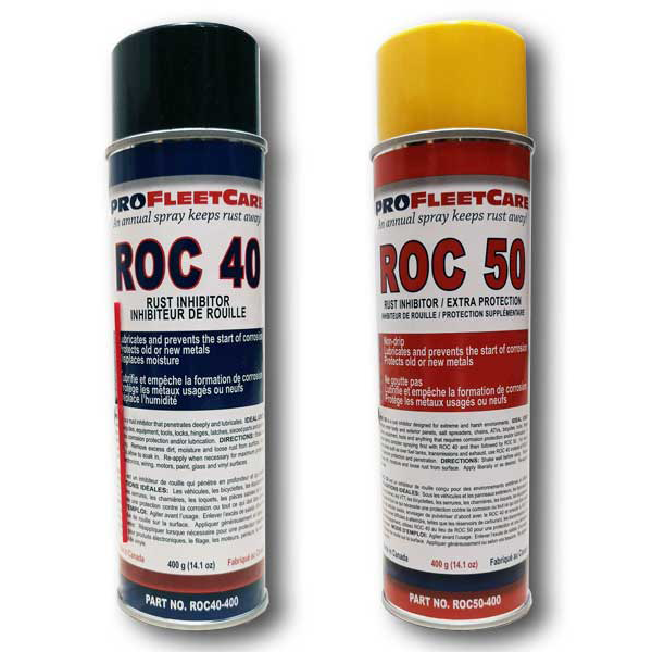 ROC 40 and ROC 50 Rust Control and Rust Proofing Aerosols COMBO PACK