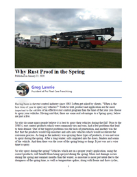 Why Rust Proof in the Spring Article